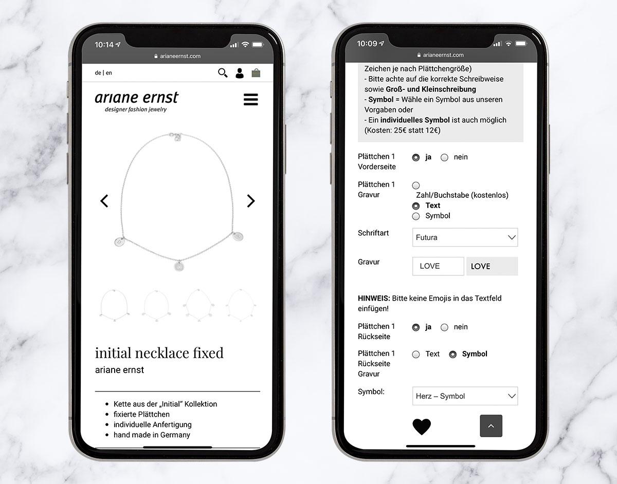 Ariane Ernst Onlineshop Konfigurator WooCommerce MIND FABRIC